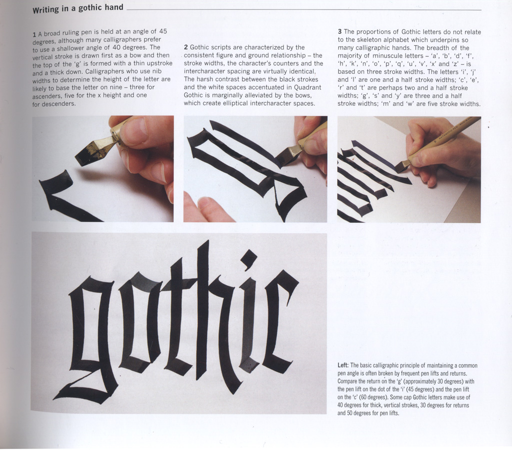 Writing In A Gothic