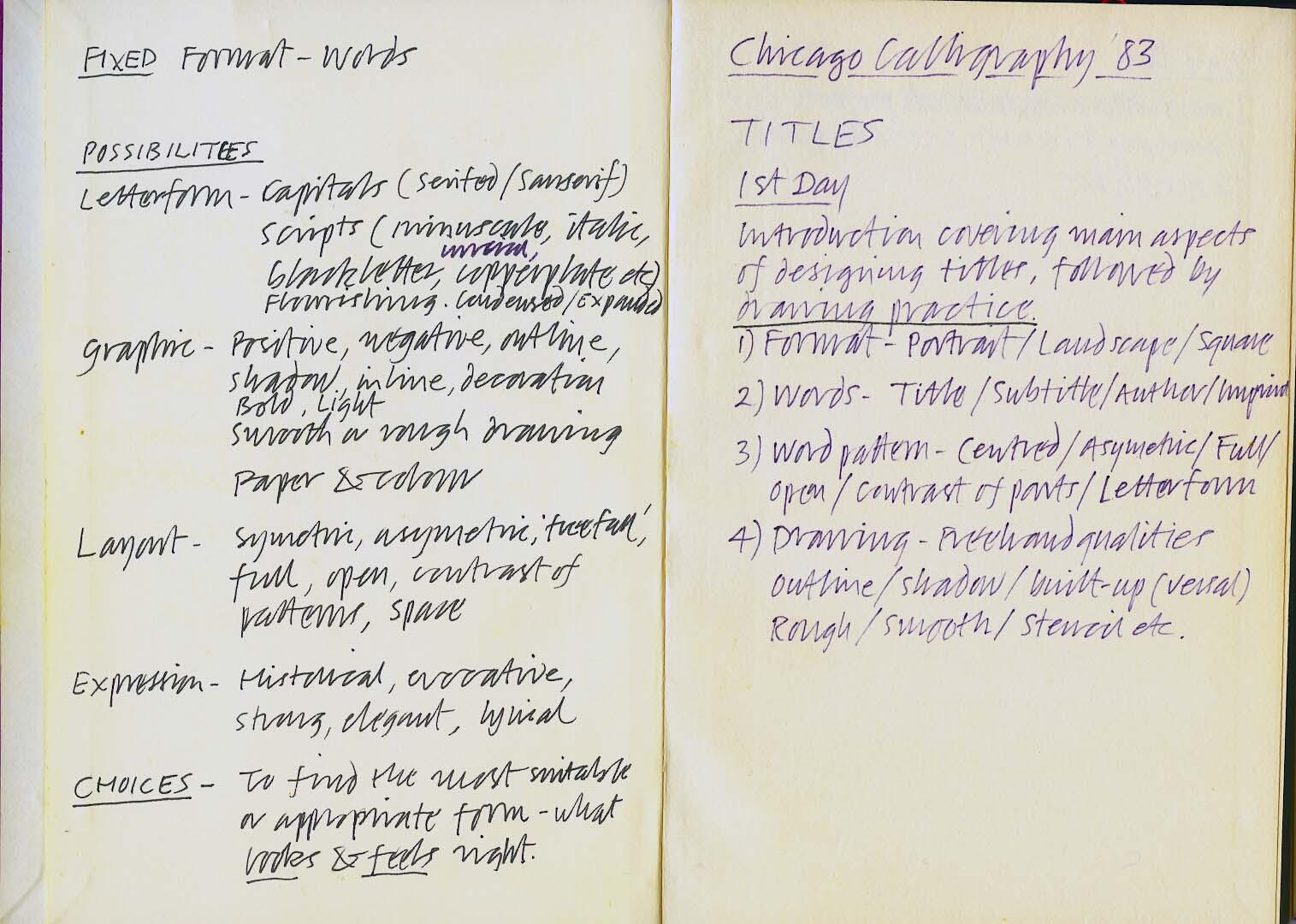 Chicago Calligraphy 1983#1