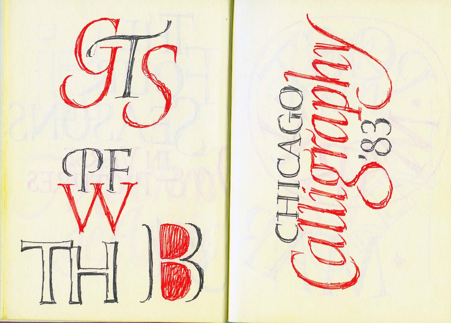 Chicago Calligraphy 1983#7