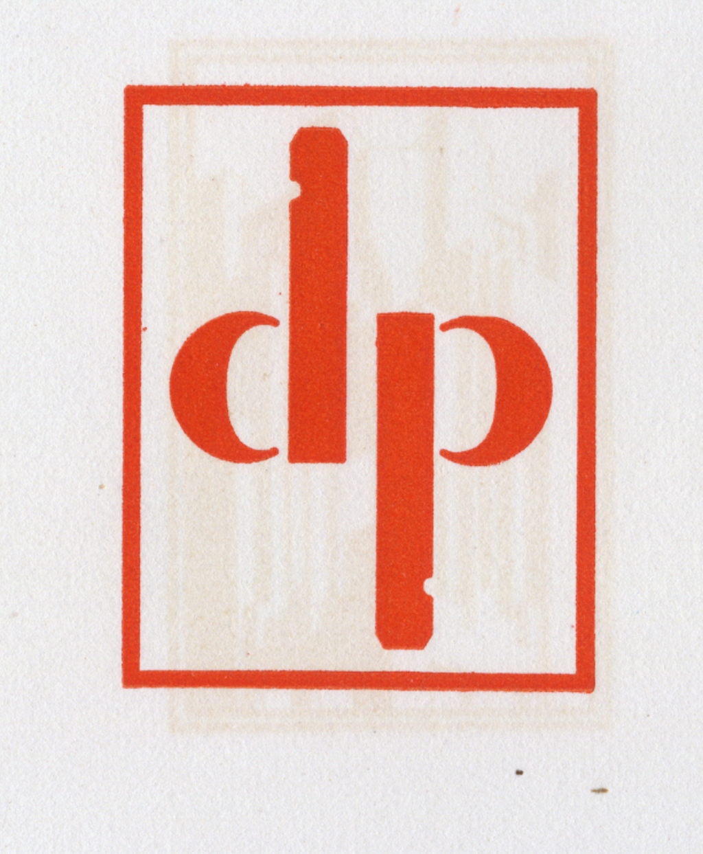 Logo for the Detroy Press by Clarence Hornung. From Trade-Marks (1930).