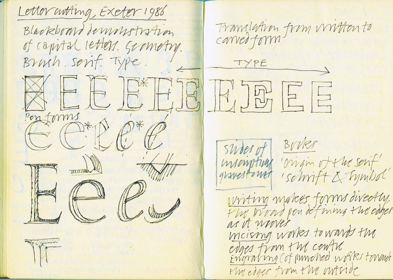Exeter 1986 – Lettercutting#1