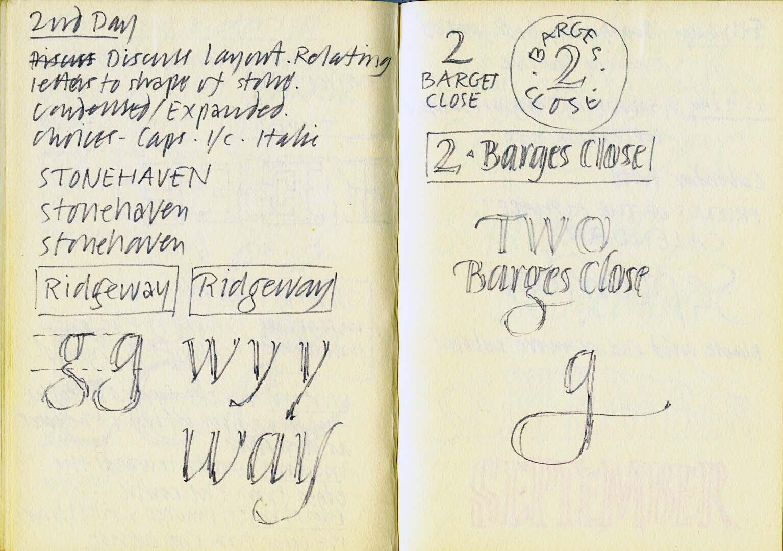 Exeter 1986 – Lettercutting#2