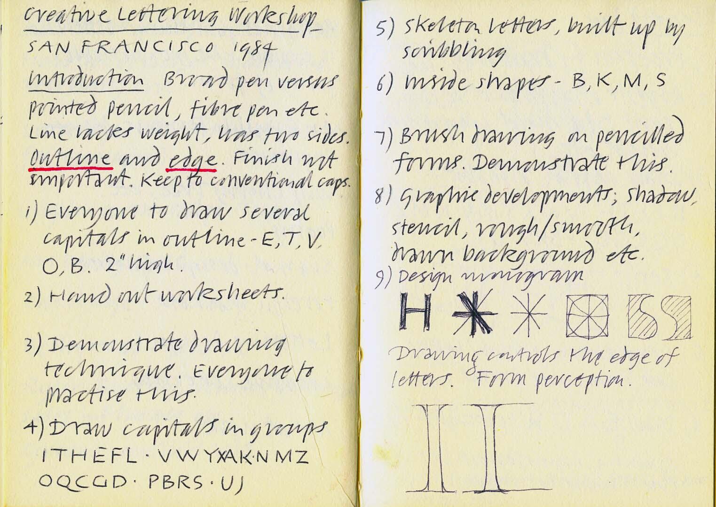 San Francisco – Creative Lettering Workshop#1