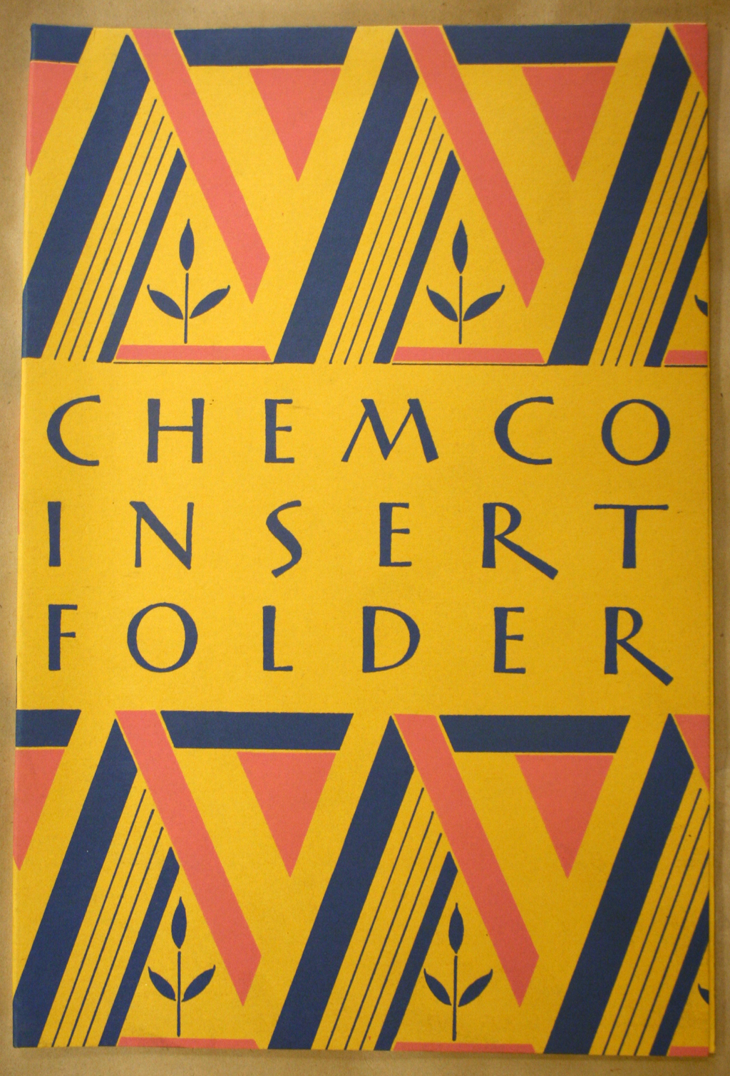Chemco Insert Folder (c. 1928). Paper company brochure designed and lettered by Walt Harris.
