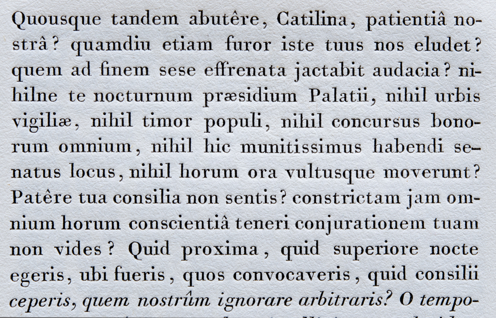 Detail of Filosofia 3 (Siena) from Manuale TIpografico. Photography courtesy of Riccardo Olocco.