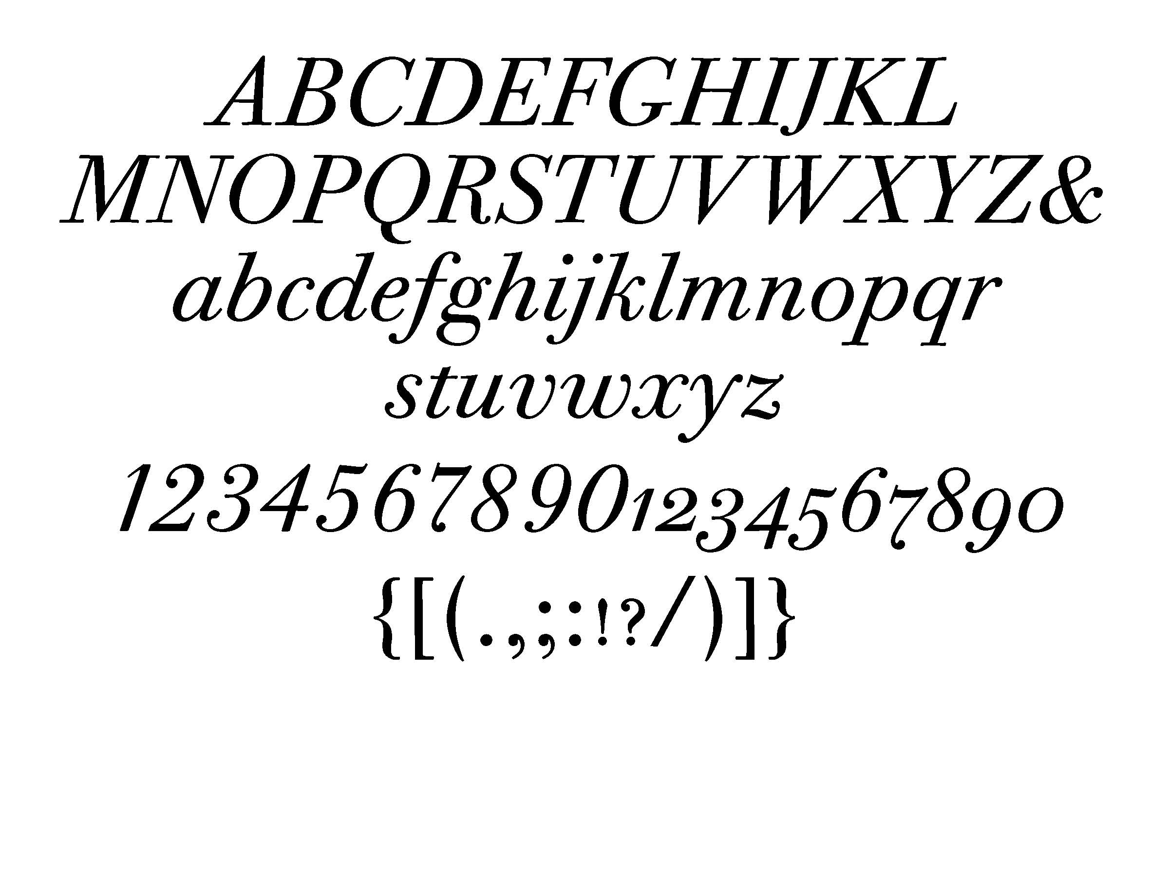 ITC Bodoni 12 italic (set at 72 pt)