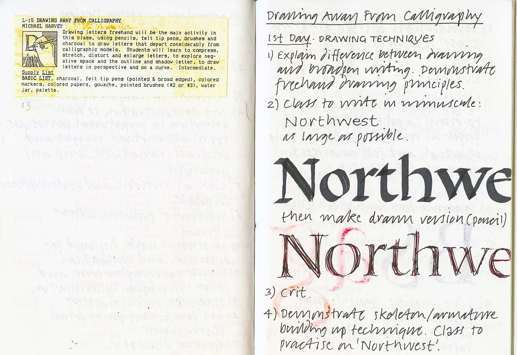 Portland 1991 – Calligraphy Northwest #5