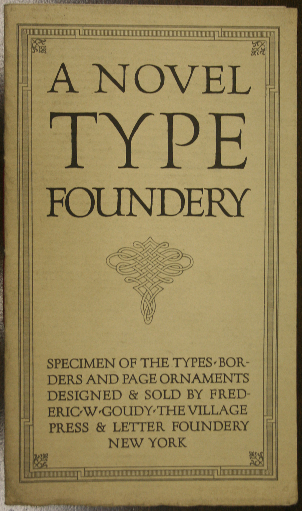 A Novel Type Foundery (1914).