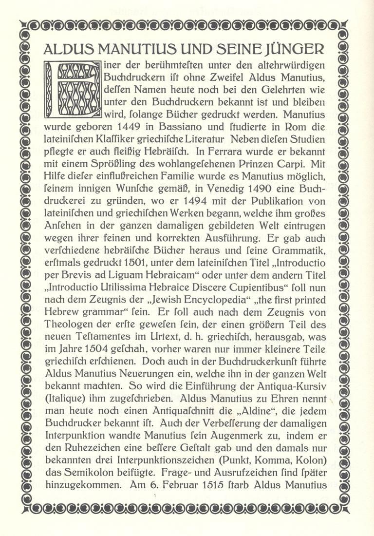 Kleukens-Antiqua (Bauersche Gießerei, 1909). From Atlas zur Geschichte der Schrift 7.