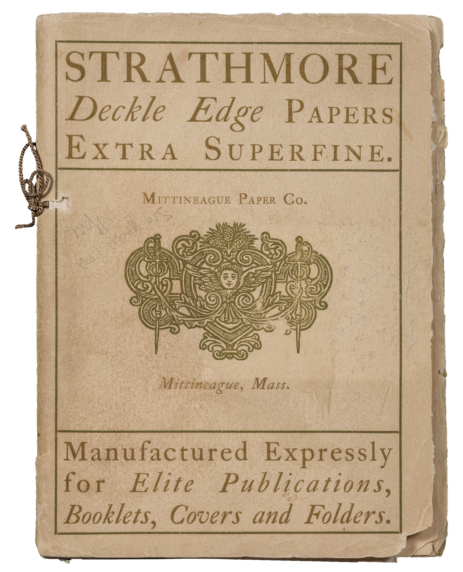 Strathmore Deckle Edge Paper. Design by Will Bradley.