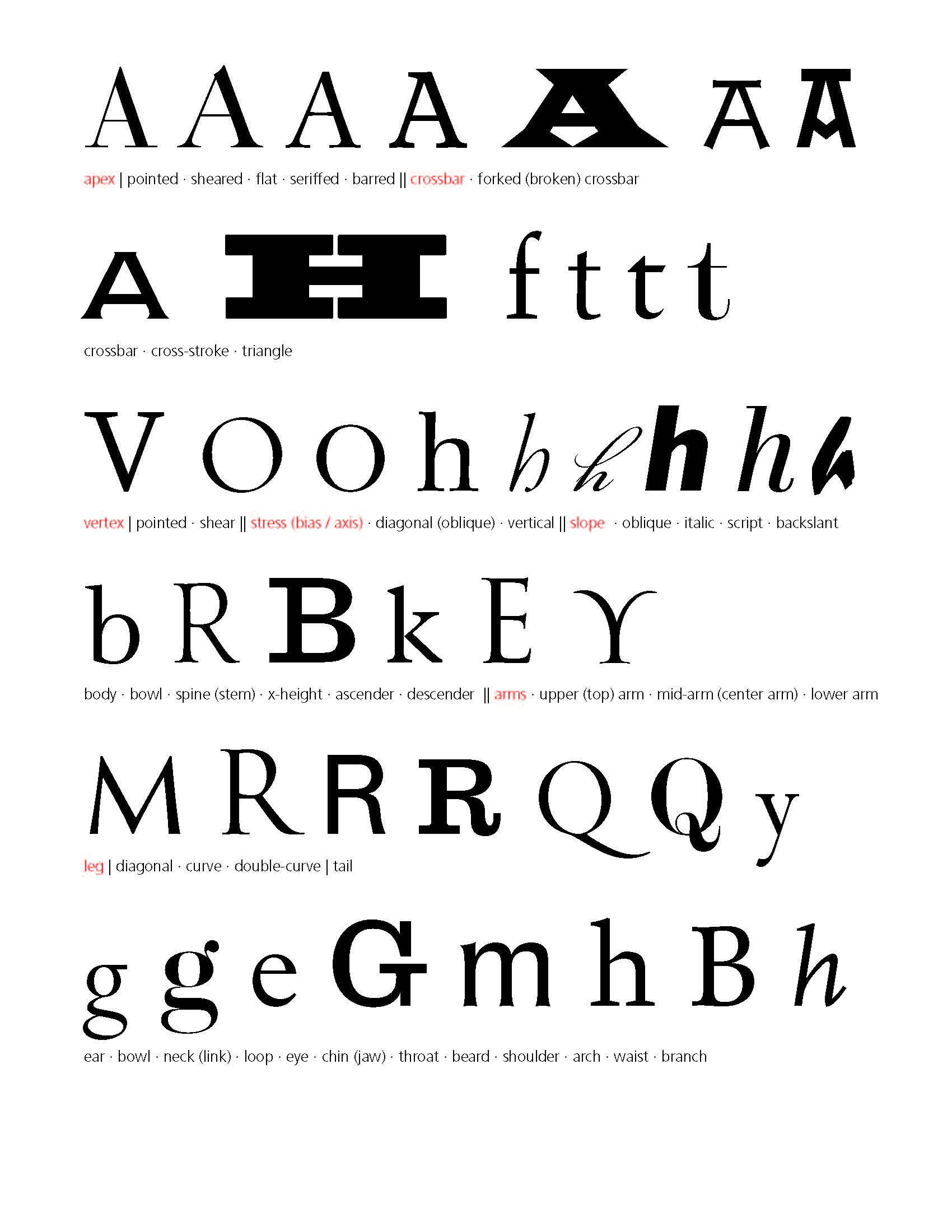 Paul Shaw Letter Design » Thoughts on Letterform Nomenclature