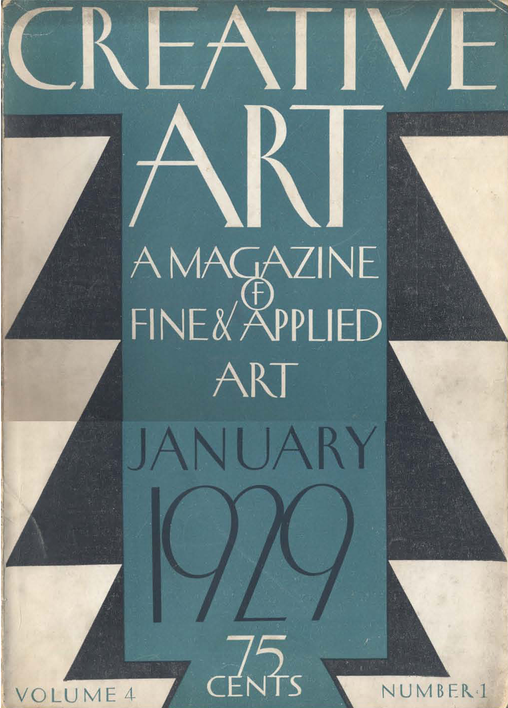 Creative Arts (January 1929). Cover design not credited.