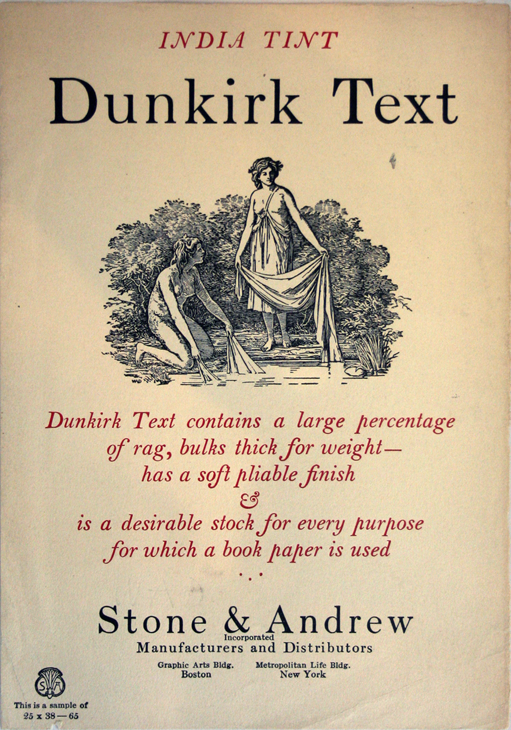 India Text Dunkirk from Stone & Andrew