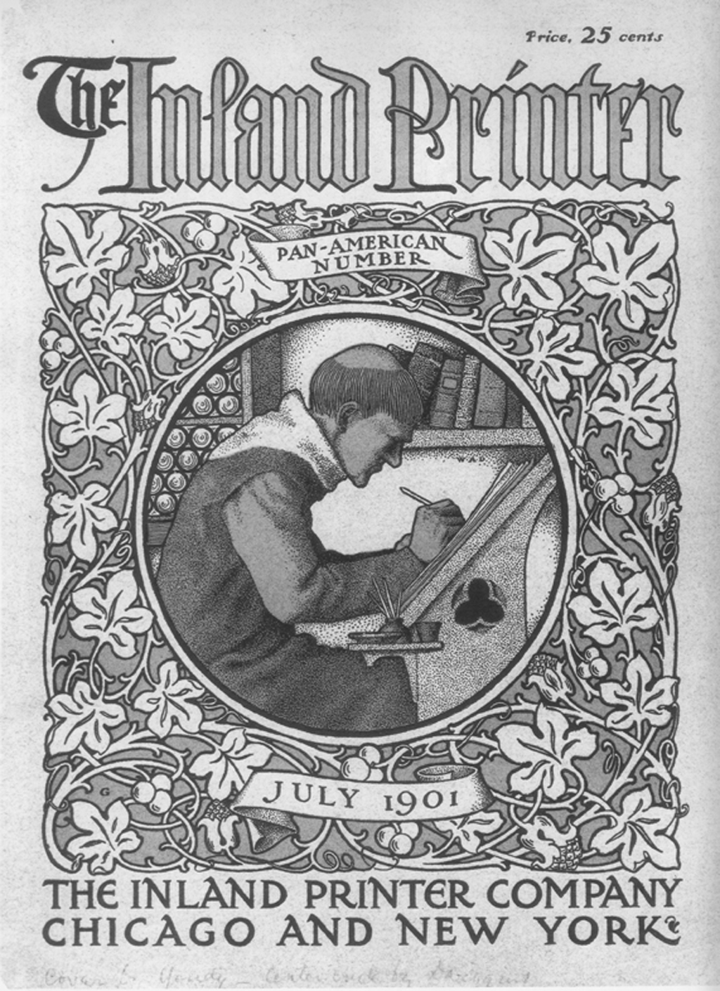 Cover of the Pan-American Issue of The Inland Printer (July 1901) designed jointly by Frederic W. Goudy and W.A. Dwiggins.