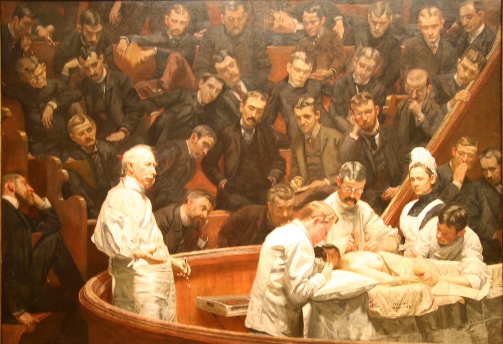 The Agnew Clinic. Painting by Thomas Eakins (1889).