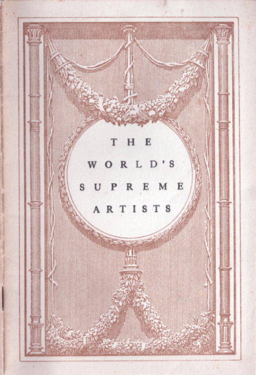 The World's Supreme Artists