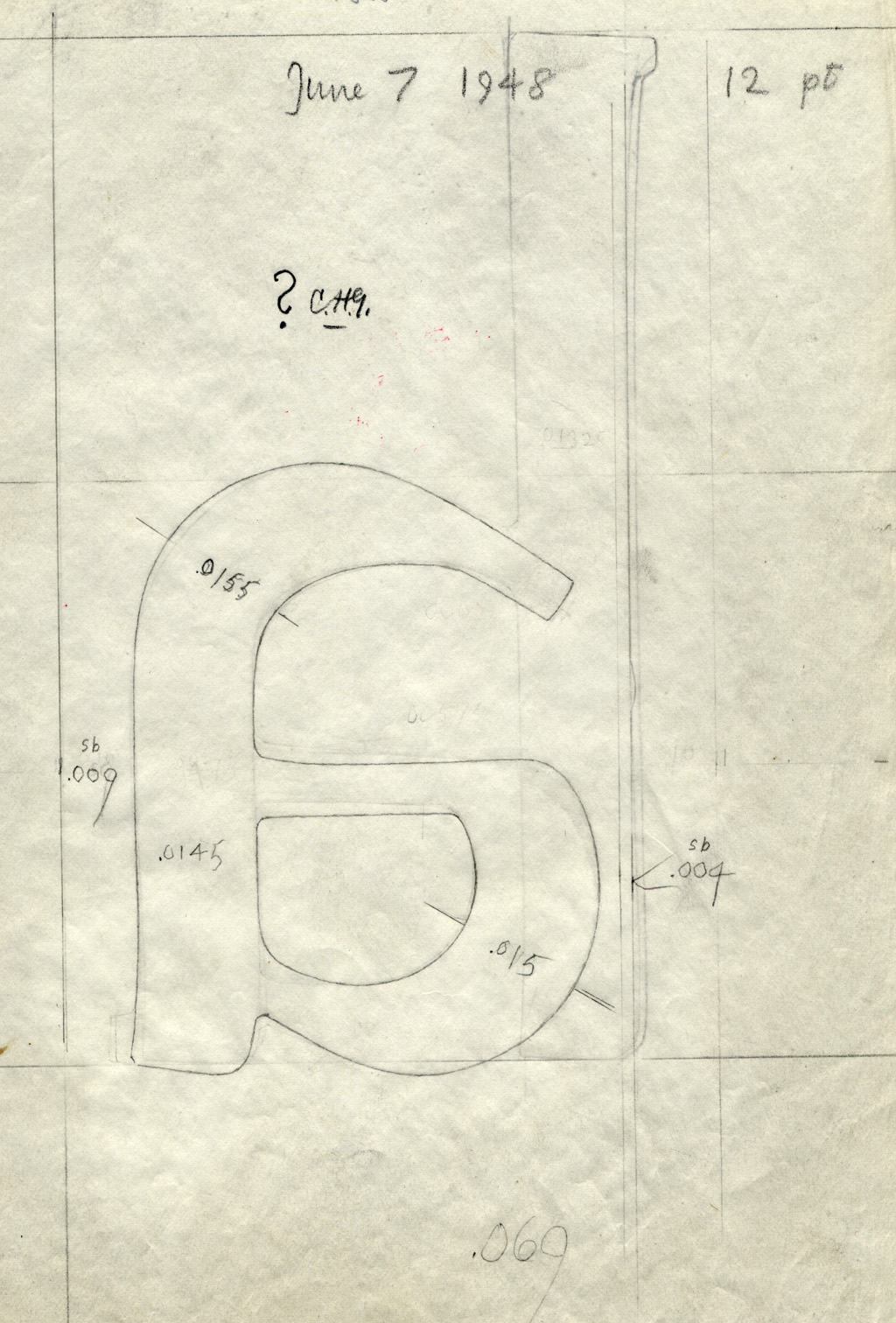 Drawing of a for Alexandria. Dated June 7, 1948.