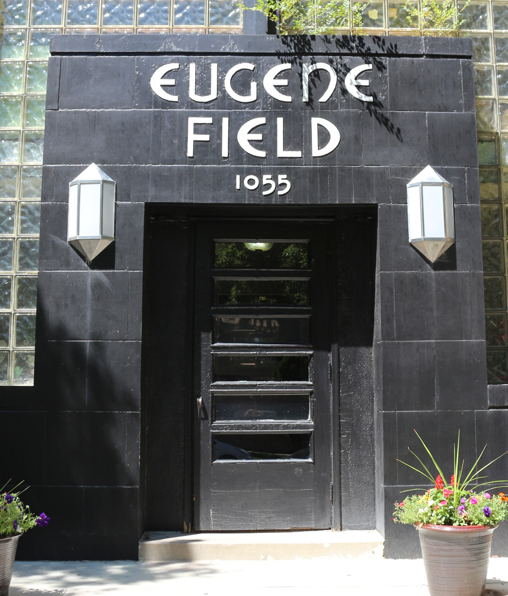 Facade of Eugene Field apartment building (1939).