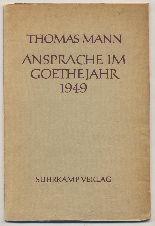 Resultado de imagen de Ansprache im Goethejahr