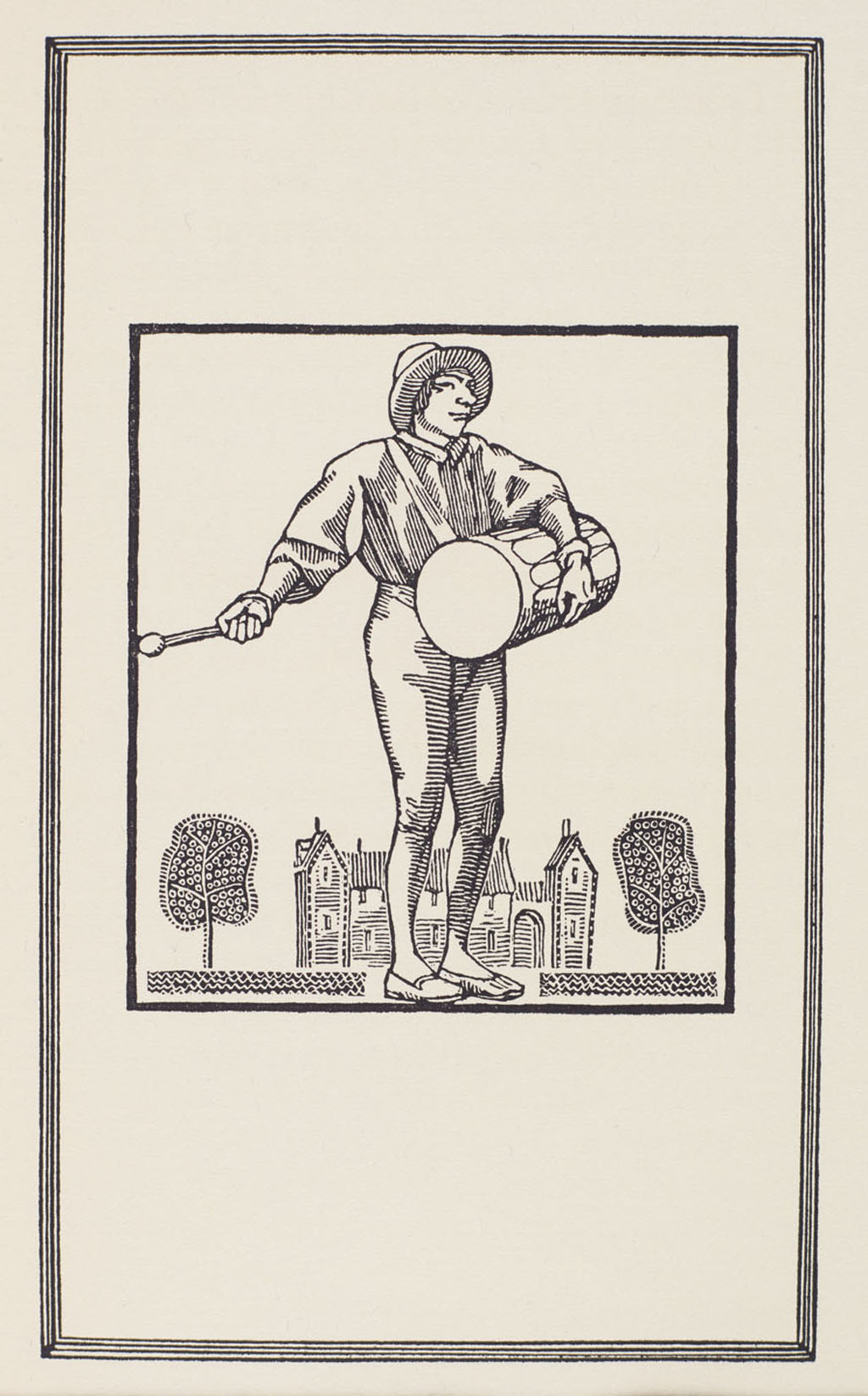 Illustration from Gargantua and Pantagruel by Rabelais (New York: Limited Editions Club, 1936), vol. I, p. 11. Image from Rare Book and Manuscript Library, Columbia University.