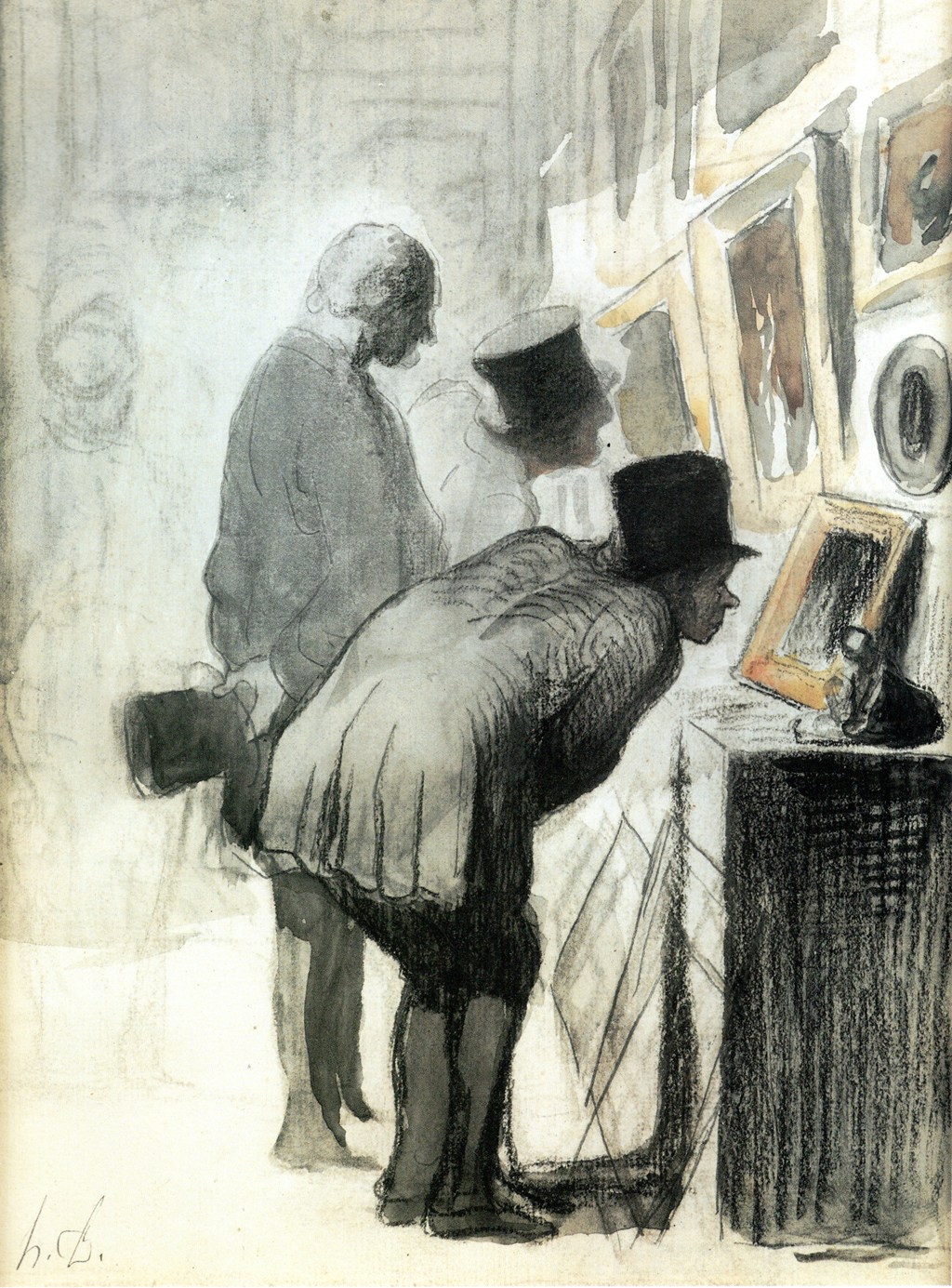 The Art Lovers by Honoré Daumier c.1863