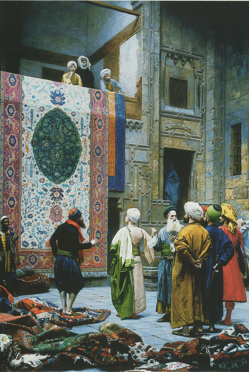 The Rug Merchants of Cairo (Le marchand de tapis au Caire) by Jean Léon Gérôme c.1879
