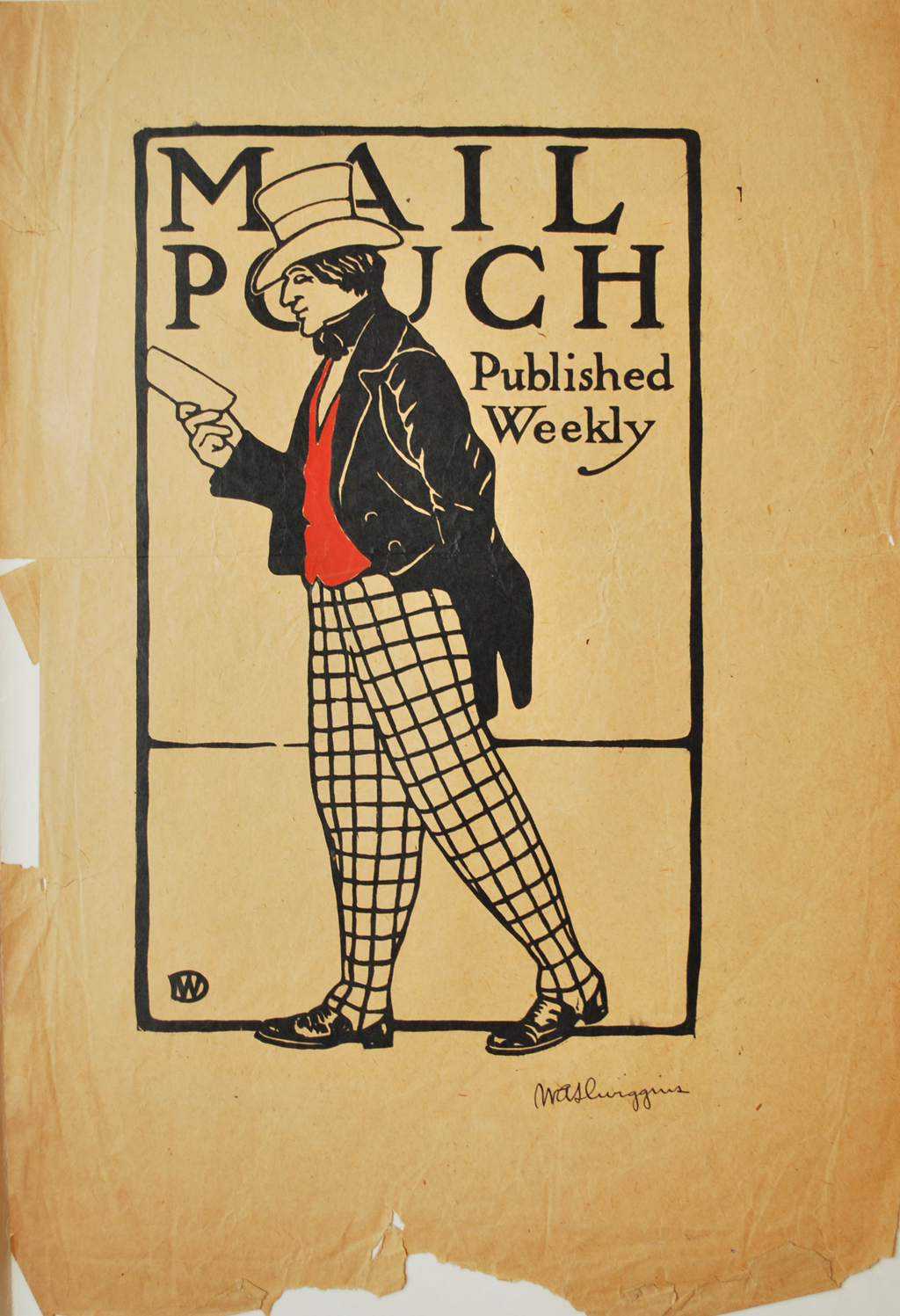 Mail Pouch poster by W.A. Dwiggins, c.1900. Photograph courtesy of Eric Frazier and the Library of Congress.