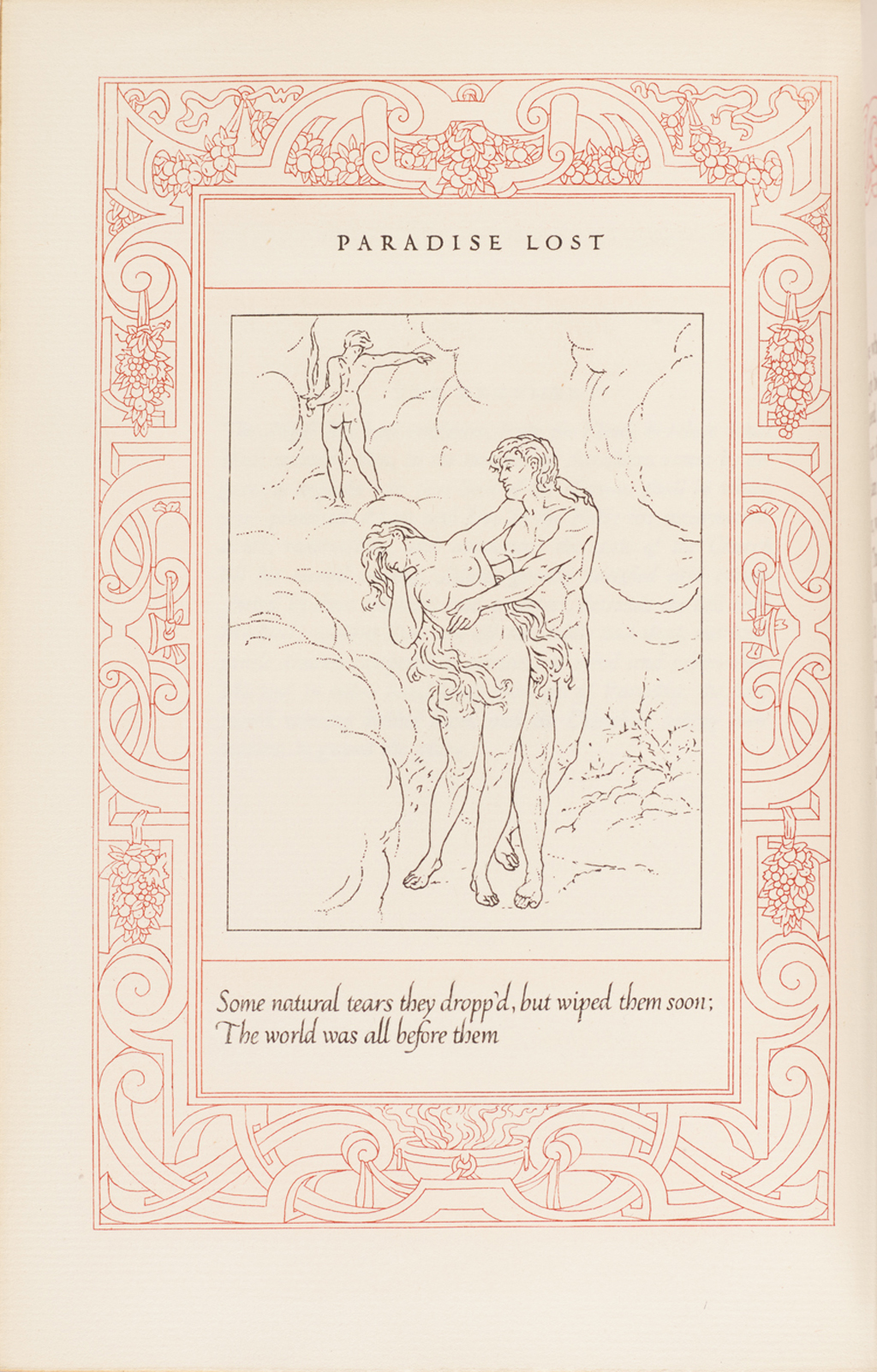 """Paradise Lost."" Illustration by W.A. Dwiggins from The Poetical Works of John Milton (Boston: R.H. Hinkley Company, 1908)."