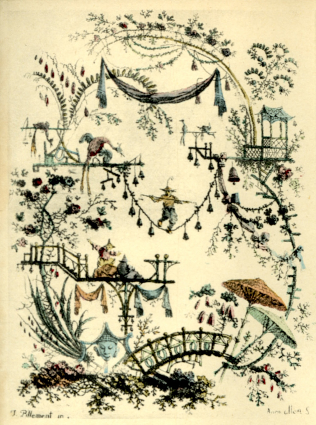 Jean Pillement. From Nouvelle Suite de Cahiers de Dessins Chinois. Egraved by Anne Allen.