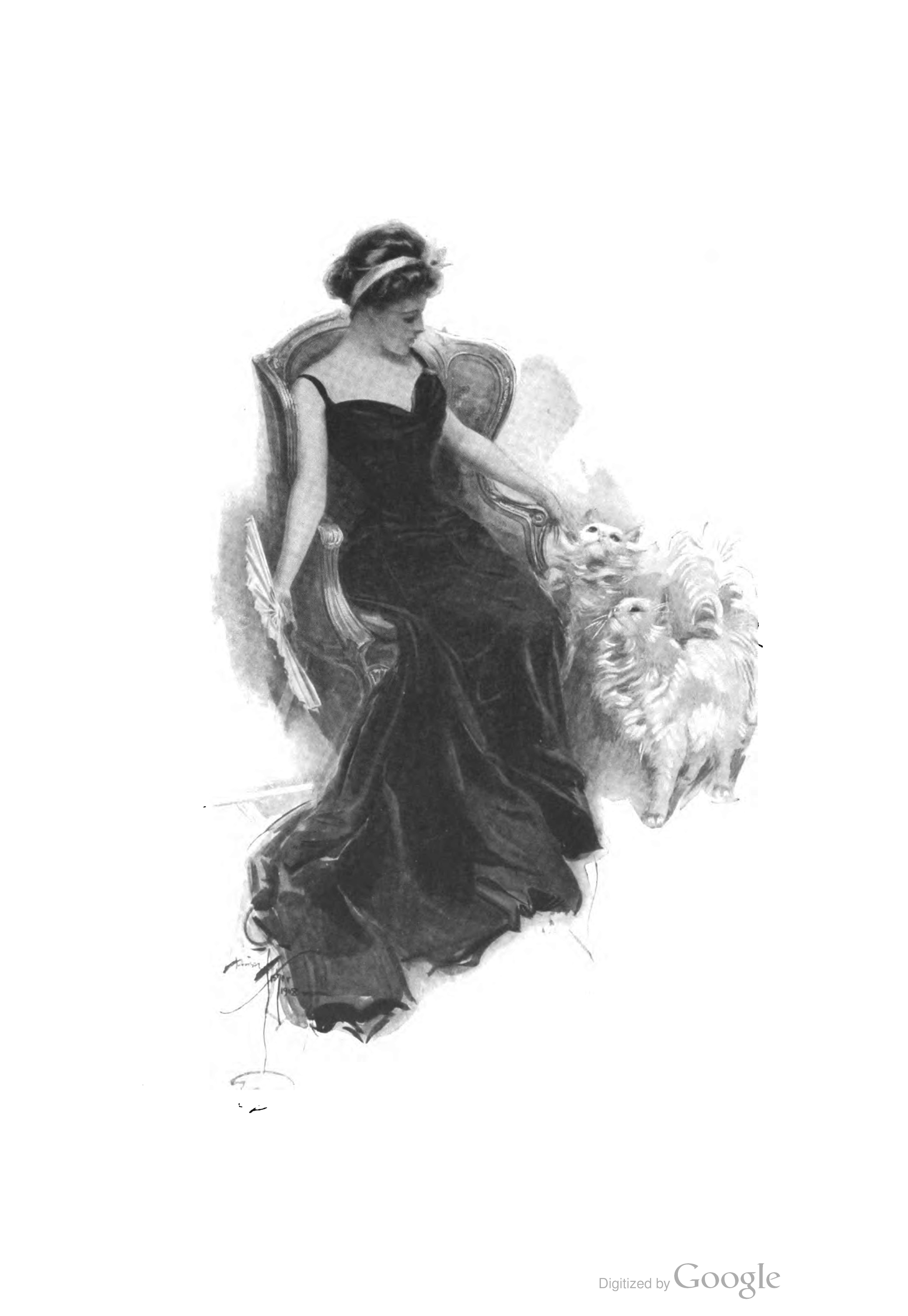 Illustration from Bachelor Belles by Harrison Fisher (New York: Grosset & Dunlap, 1908).