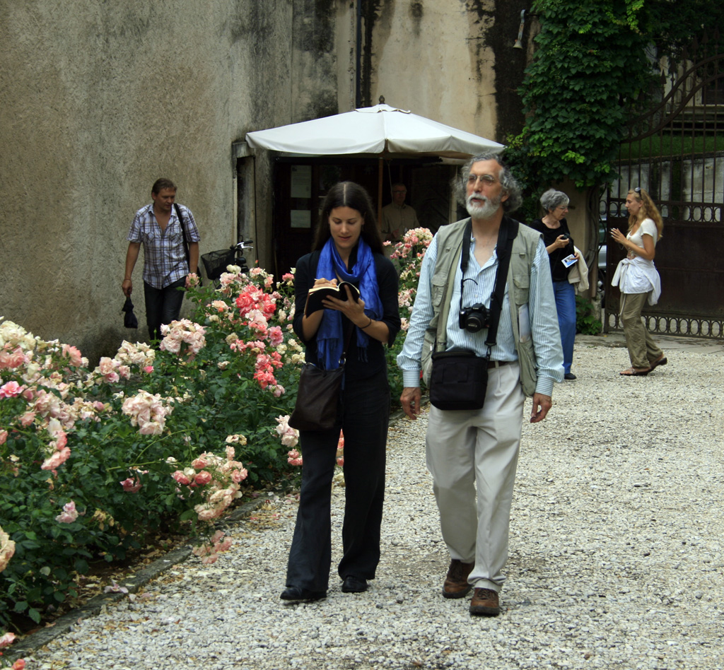 Paul Shaw and Alta Price in Vicenza during Legacy of Letters 2010. Photograph by Carlo Scherer.