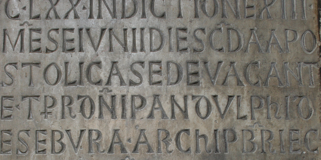 Romanesque inscription (Pantheon, 1270)