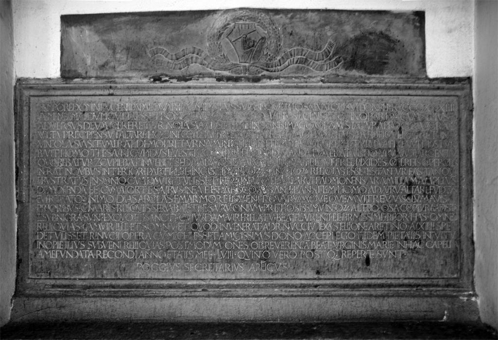 Fig. 2 Poggio inscription (1438). Photograph by Paul Shaw (2007).