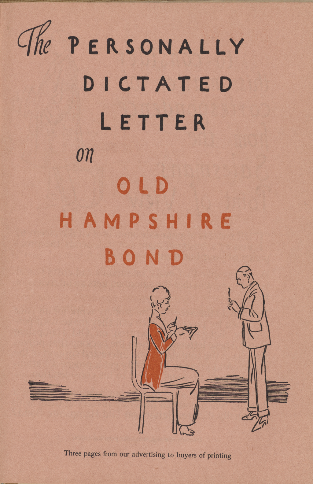 """The Personally Dictated Letter on Old Hampshire Bond"" from Print. Lettering by W.A. Dwiggins."