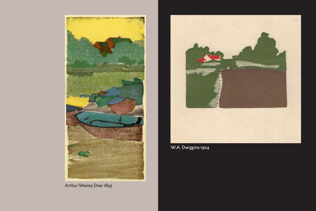 Influence of Arthur Wesley Dow on W.A. Dwiggins.