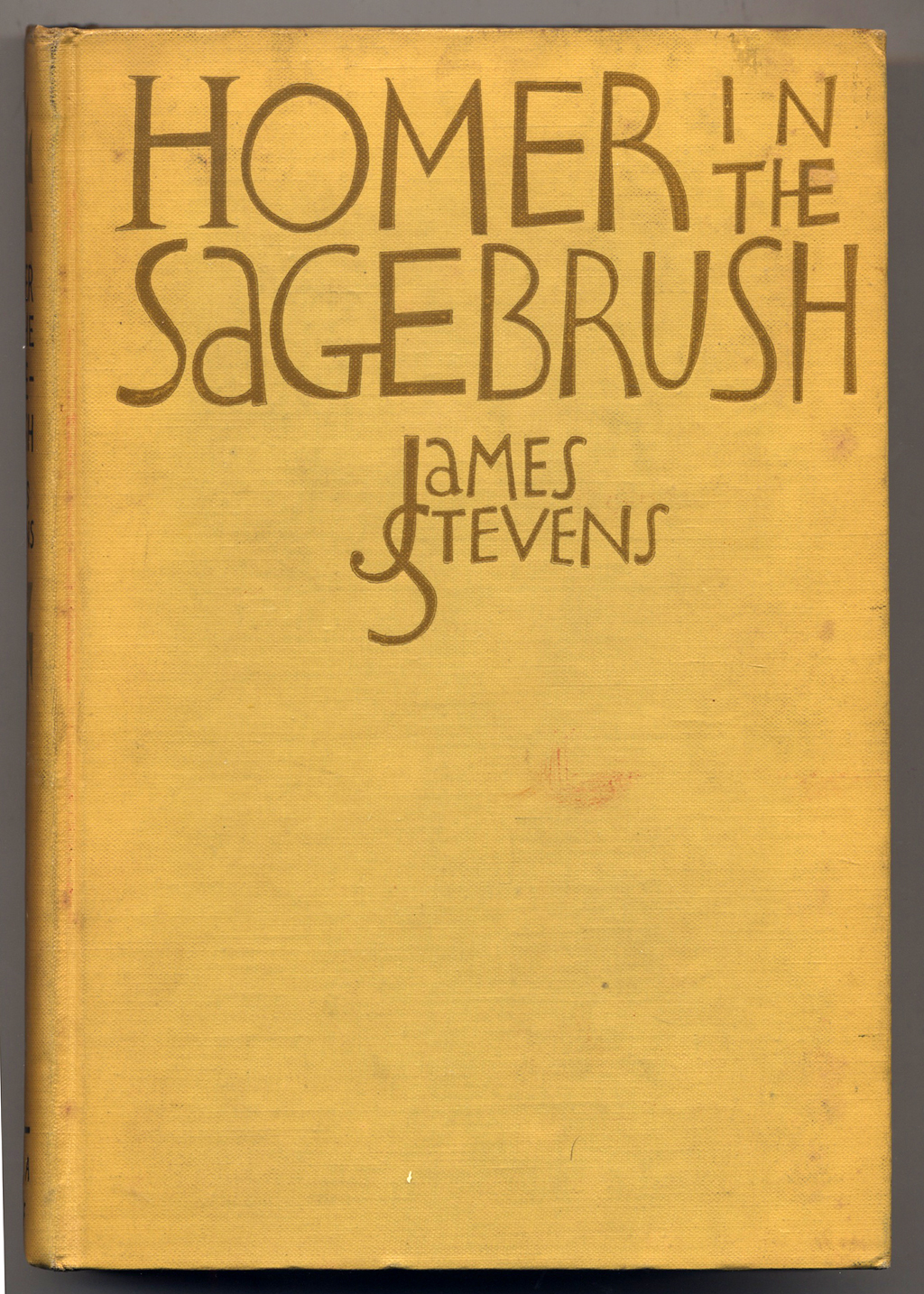 Homer in the Sagebrush by James Stevens (New York: Alfred A. Knopf, 1929). Binding lettering by W.A. Dwiggins.