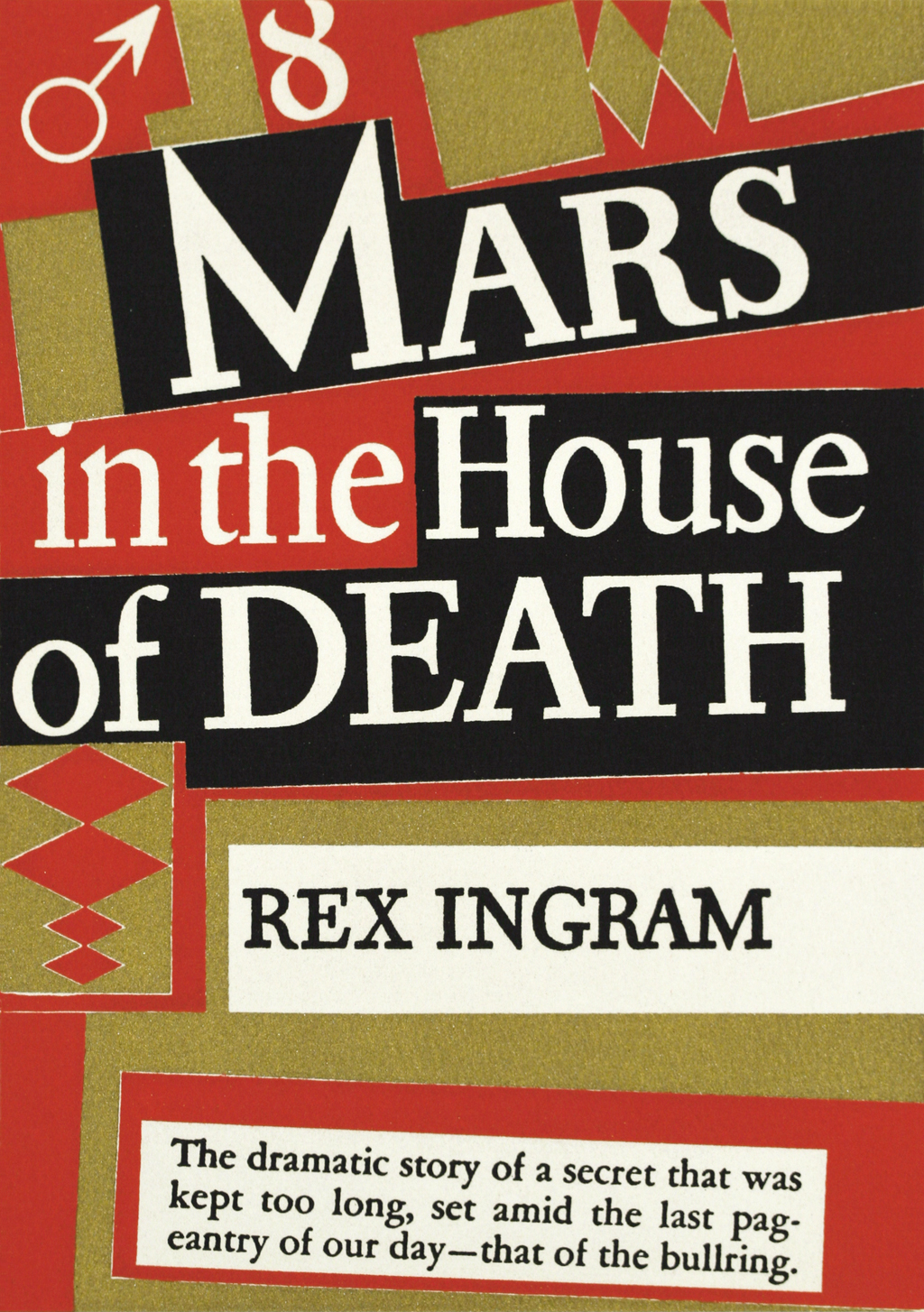 Jacket for Mars in the House of Death by Rex Ingram (New York: Alfred A. Knopf, 1939). Design by W.A. Dwiggins.