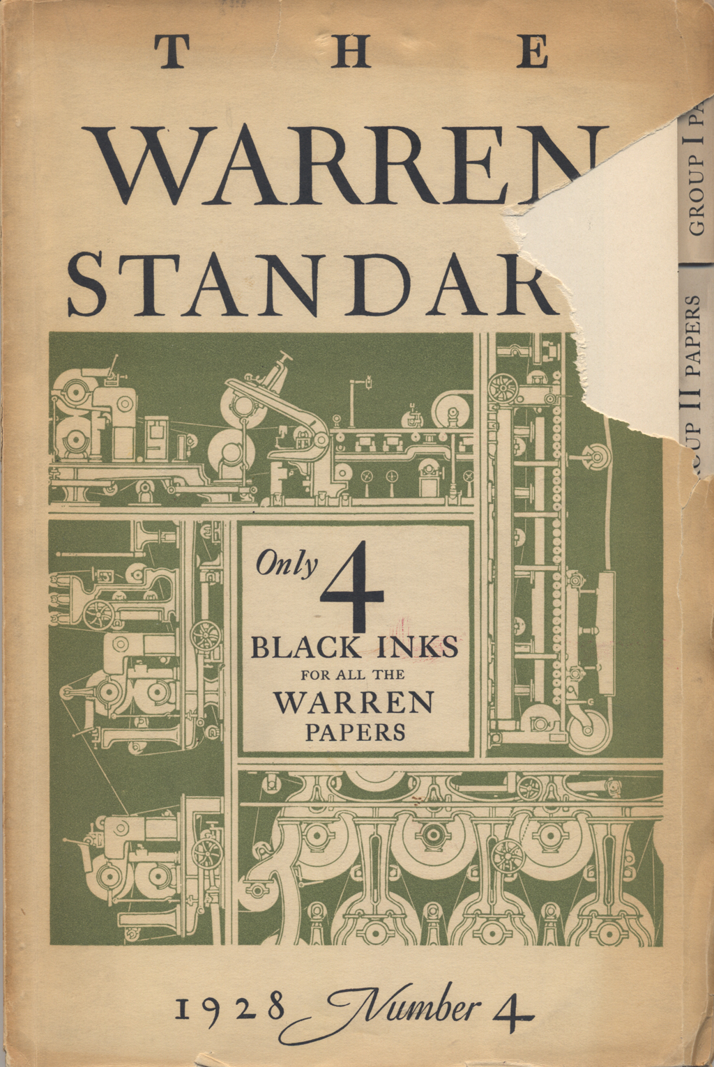 Cover of The Warren Standard no. 4 (1928). Design, illustration and lettering by W.A. Dwiggins.