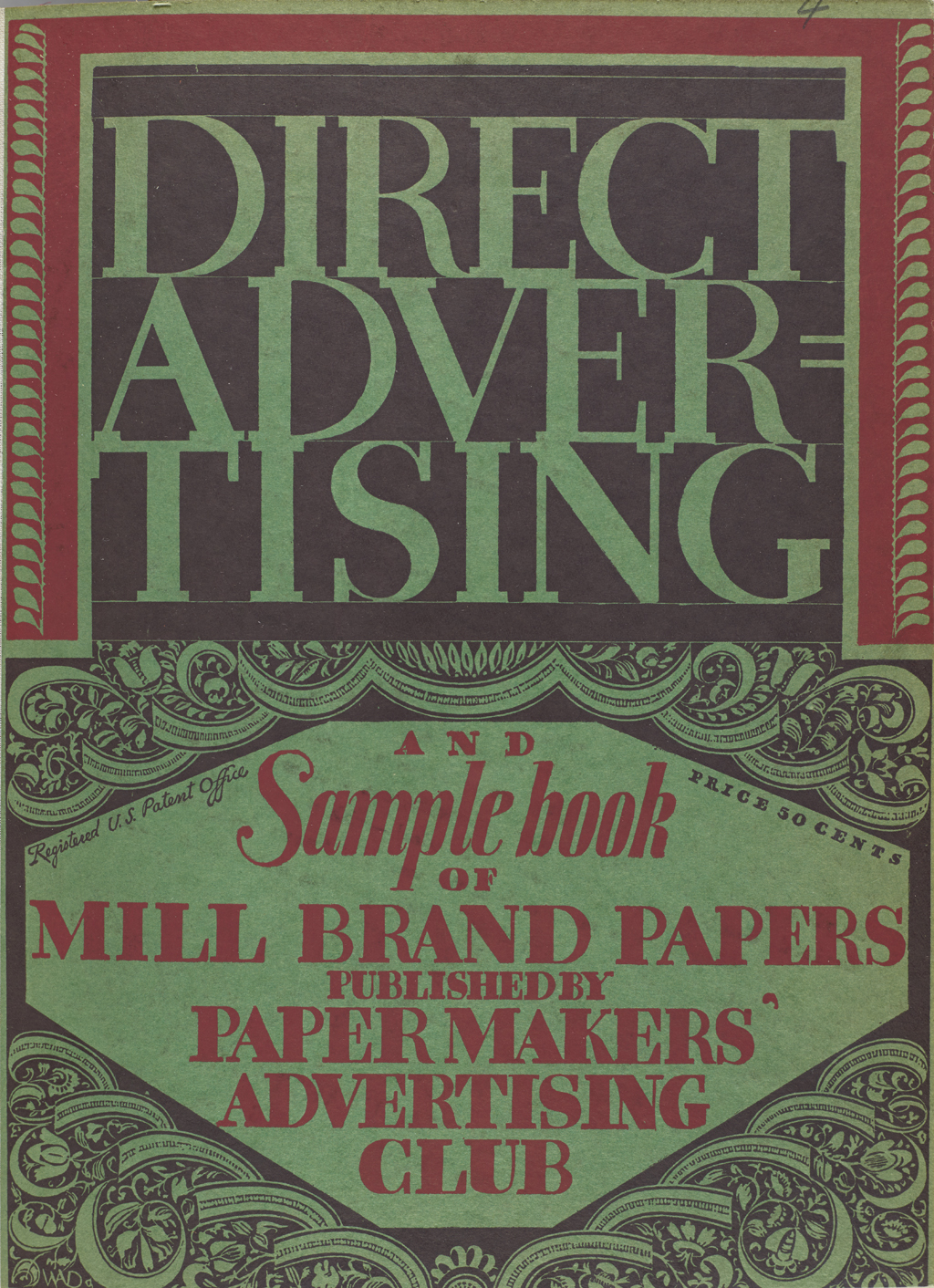 Cover of Direct Advertising. Design by W.A. Dwiggins.