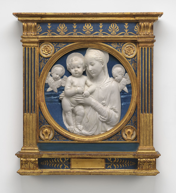 Madonna and Child with Cherubim. Andrea della Robbia. Museum of Fine Arts, Boston.