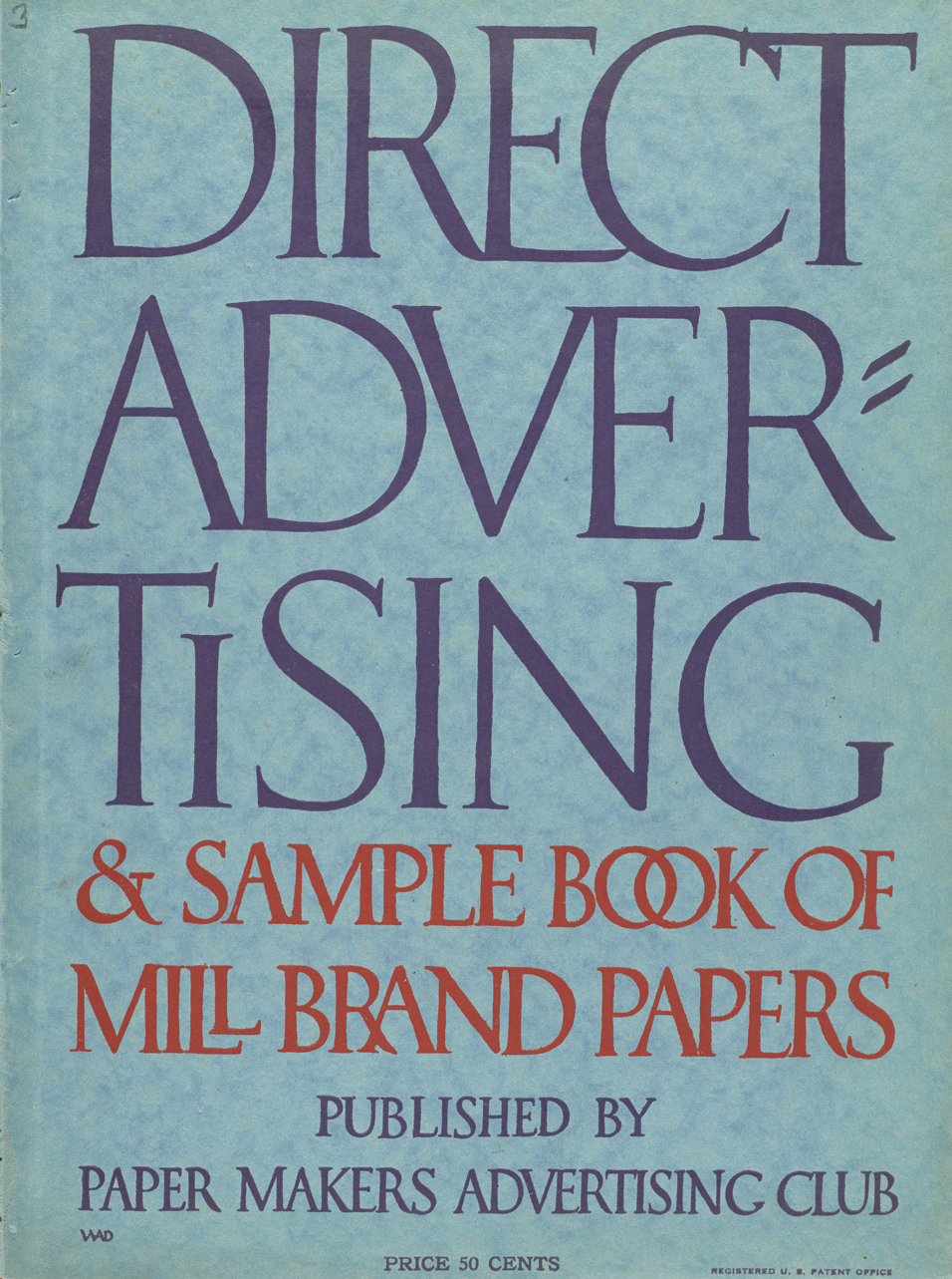 Cover of Direct Advertising, vol. XII, no. 3 (1926). Design by W.A. Dwiggins.