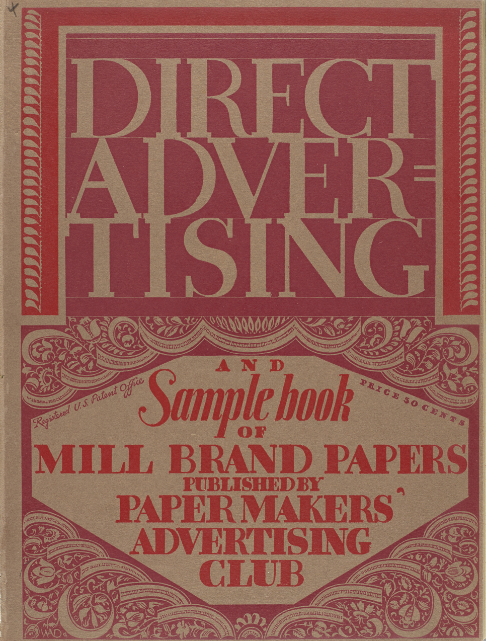 Cover of Direct Advertising, vol. XII, no. 4 (1926). Design by W.A. Dwiggins.