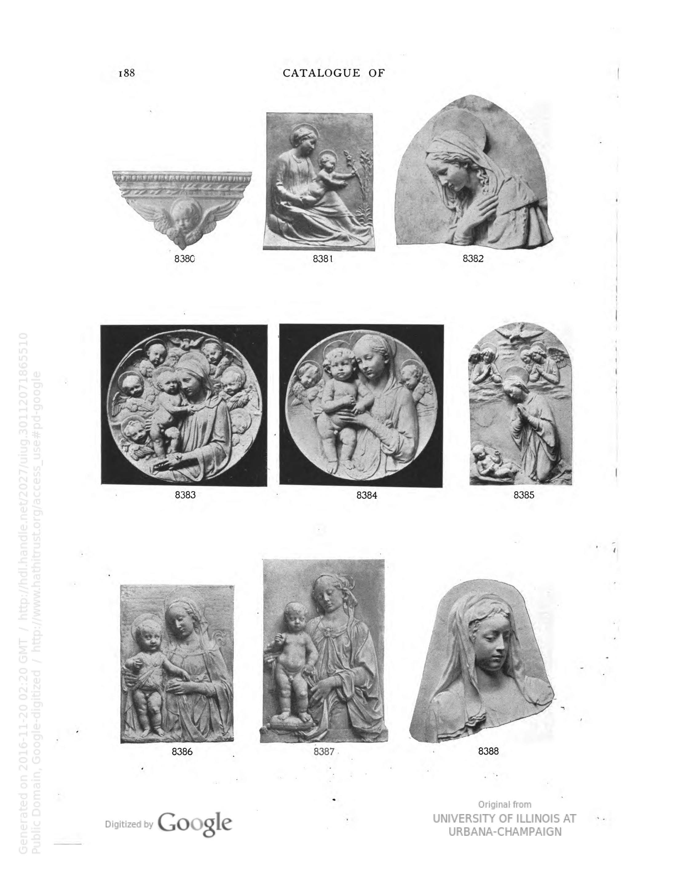 Cast no. 8284 from Catalogue of Plaster Casts of Ancient, Medieval and Modern Sculpture: Subjects for art School (Boston: P.P. Caproni & Brother, 1901), p. 188.