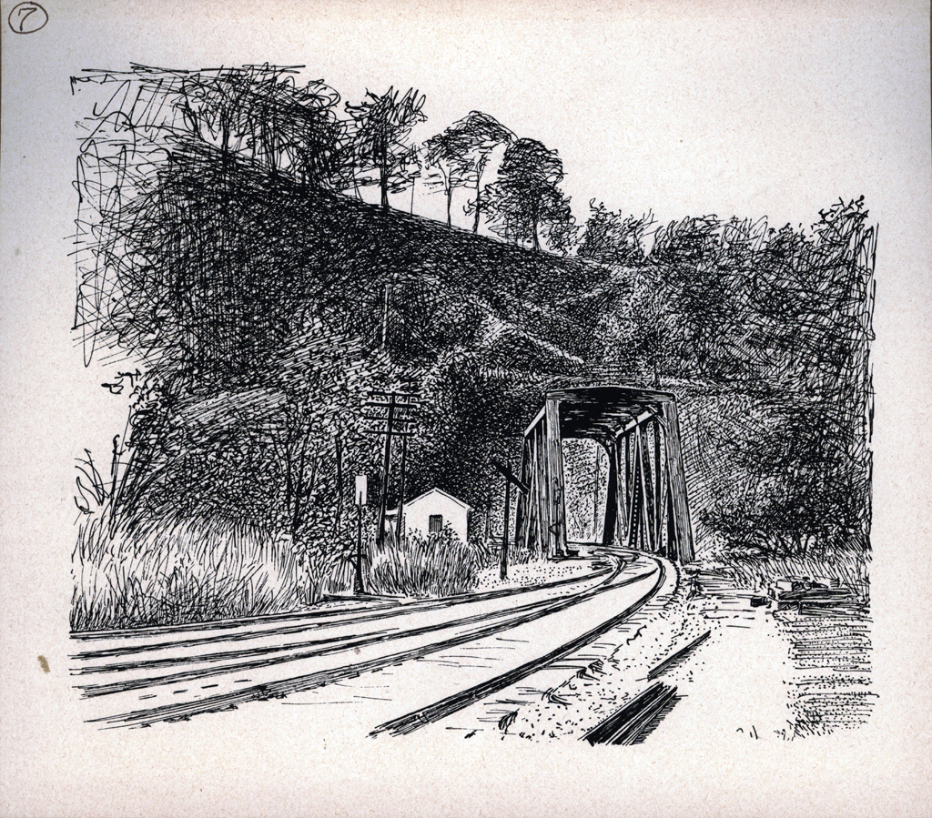 Tunnel Hill. Print by W.A. Dwiggins (1903). Courtesy of the Finlay Room, Guernsey County Library.