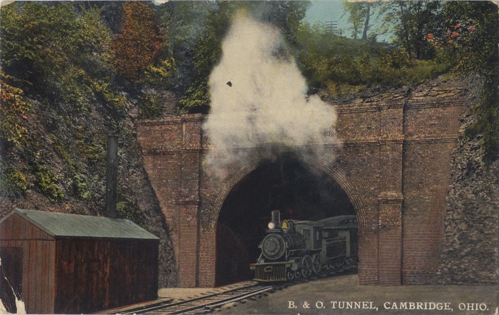 B&O Tunnel. Undated postcard.