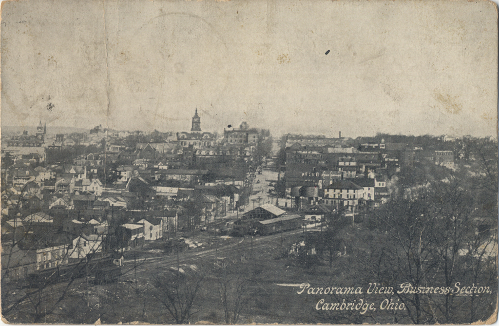 Panorama view Business District of Cambridge (c.1909).