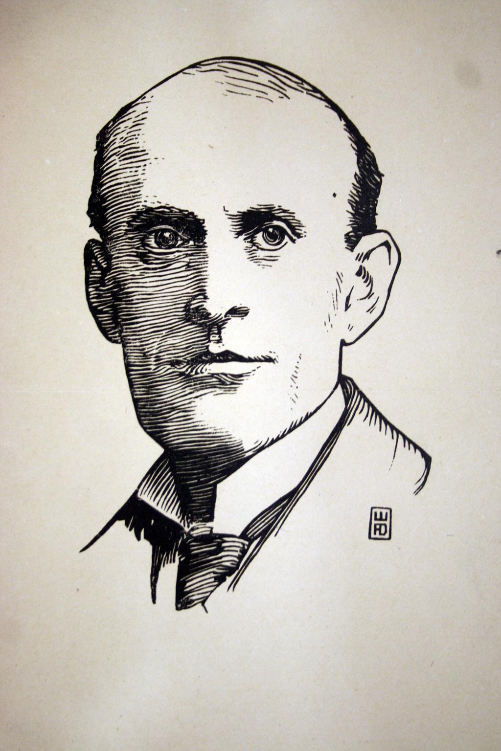 Portait of Eugene Field by W.A. Dwiggins.