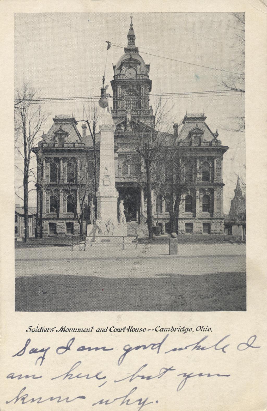 Guernsey County Courthouse (1881), Cambridge, 1906.