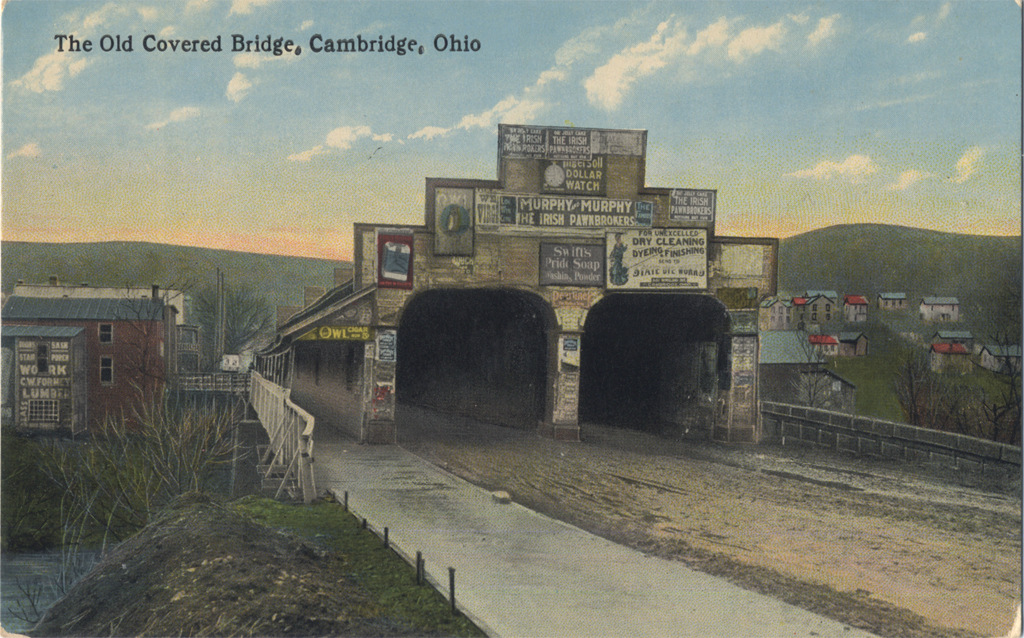 The Old Covered Bridge, Cambridge. Undated postcard.