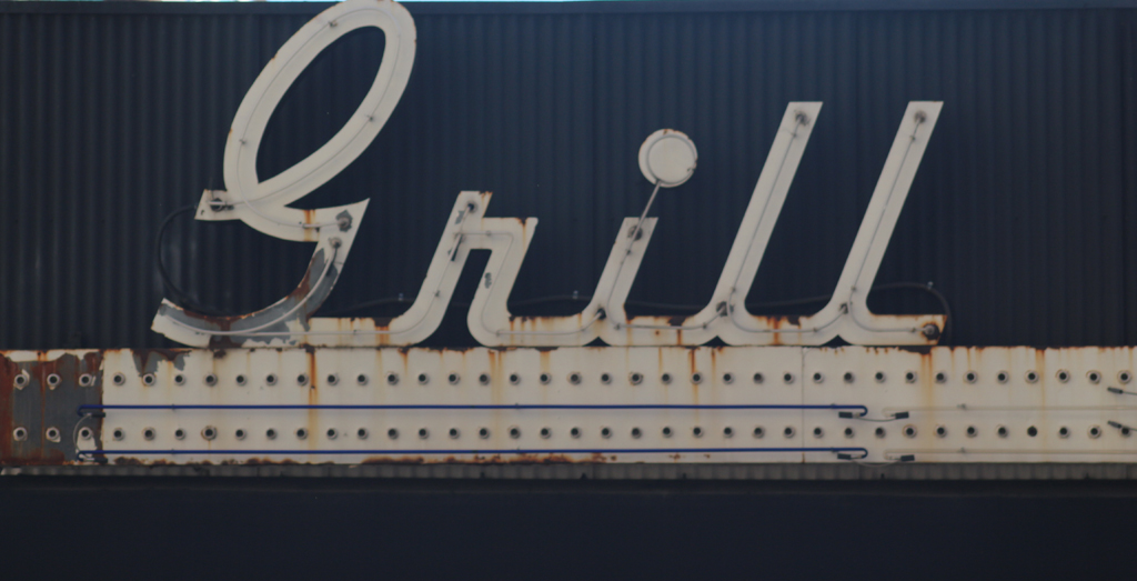 Shelby's Bar & Grill, Denver. Detail of neon sign.